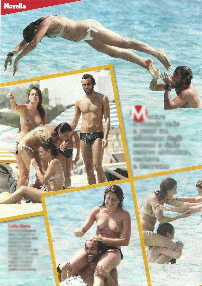 Marco Mengoni, bagno a Formentera con le amiche in topless e scambio di costume
