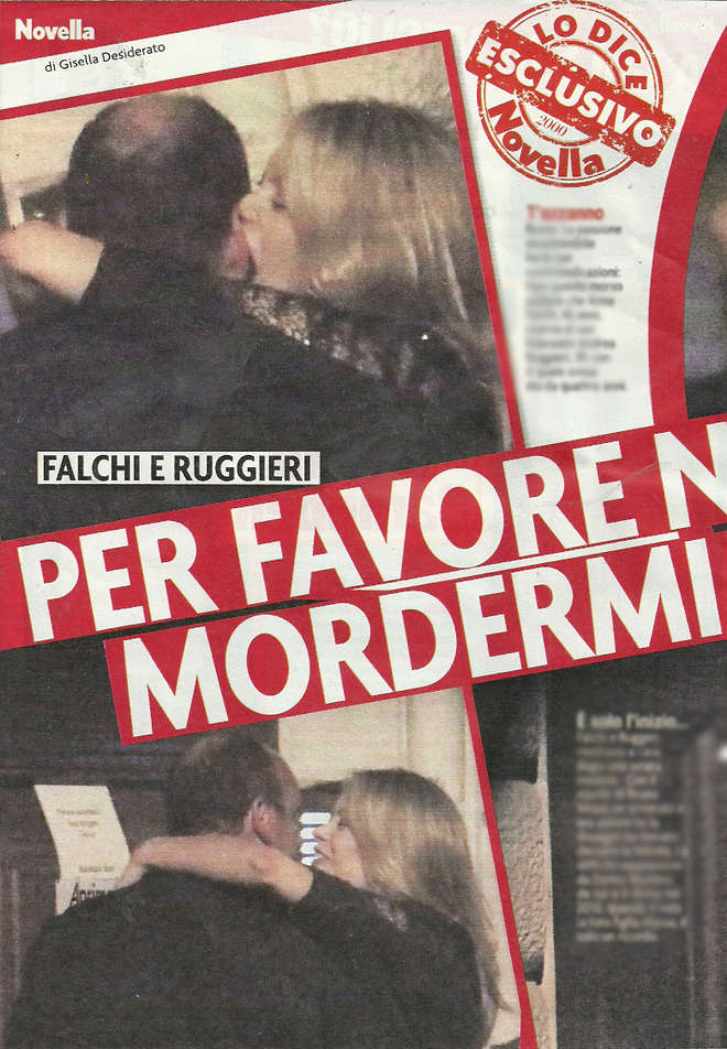 """Anna Falchi, cena hot con """"morso"""" al ristorante con Andrea Ruggieri"""