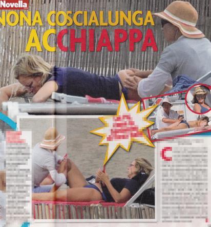 """Giovanna Melandri """"acchiappa"""" in spiaggia Il lato B è affidato a una massaggiatrice"""