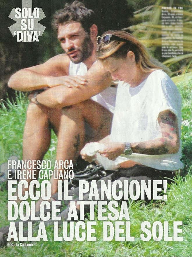 Francesco Arca papà: Irene Capuano con le prime forme da futura mamma